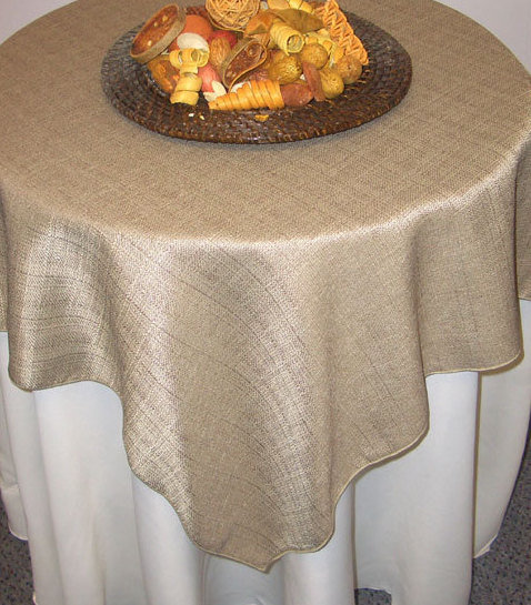 Faux Burlap Tablecloths Placemats Runners At