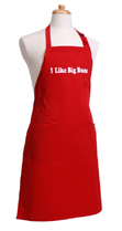 Mens Red Funny Apron
