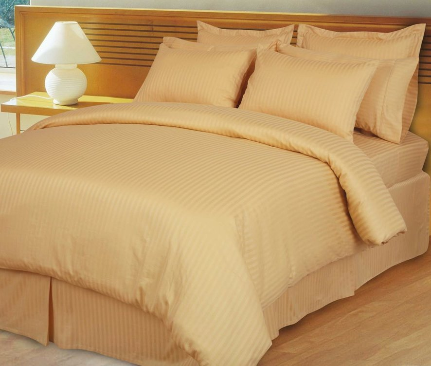 Home Opulent Decor Gold Stripe Comforter Set