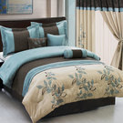 Comforter Set with Chocolate and Blues