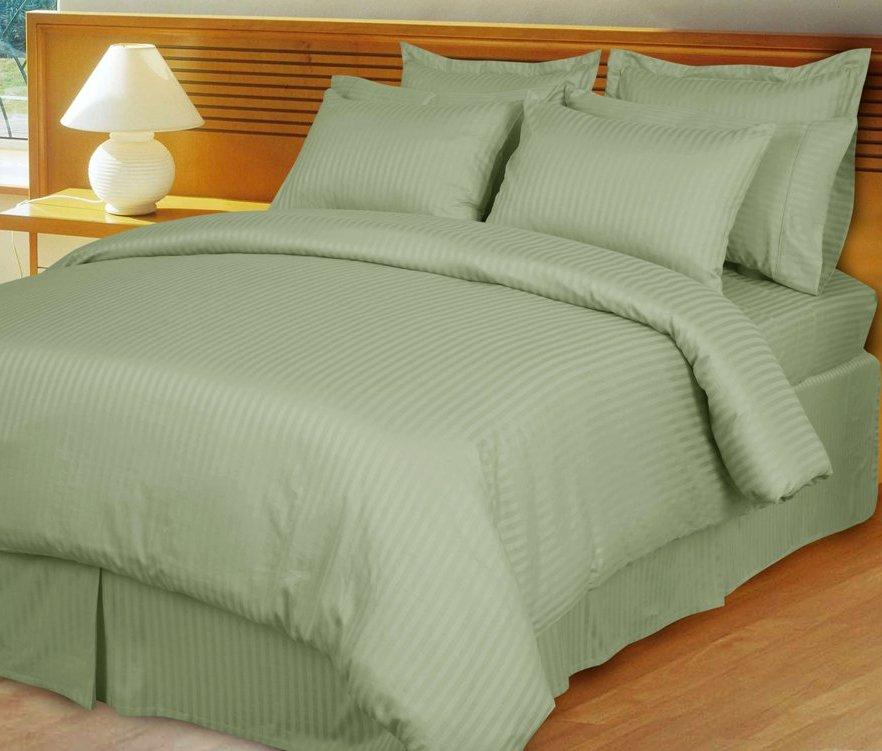 home opulent decor sage stripe comforter set