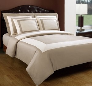 Beige Ivory Hotel Down Bedding Set