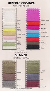 Sparkle Organza  Colors Available