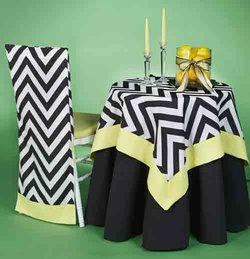 Chevron Tablecloths, Napkins, Runners & More!