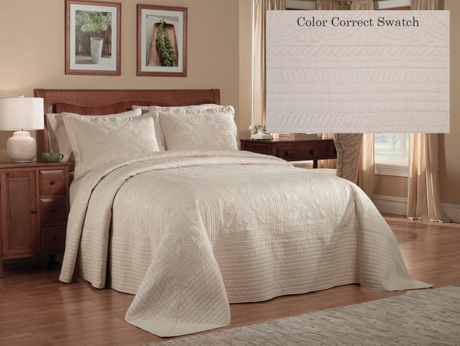 Quilts Quilted Bedspread White French Tile