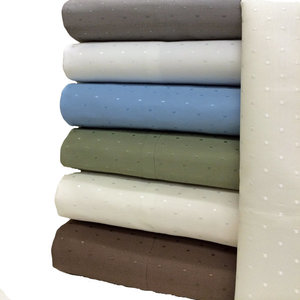 Solid with Woven Dots California  King  Sheet Set