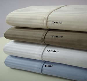 King Size Striped Cotton Sheets