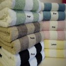Striped Cotton Bath Towels